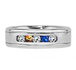 """Wilton"" Ring Design shown with November & September Birthstones with Diamonds"
