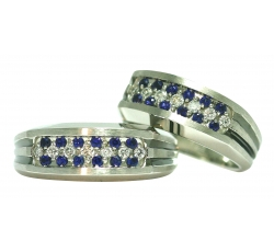 Pave Sapphires & Diamonds Rings