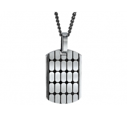Cobblestone Tag Necklace