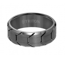 Gunmetal Tred Ring
