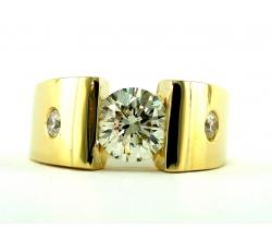 Diamond Solitaire Contemporary Ring