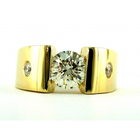 Diamond Solitaire Contemporary Ring
