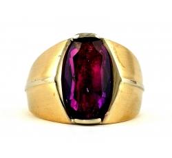 Amethyst Satin Ring