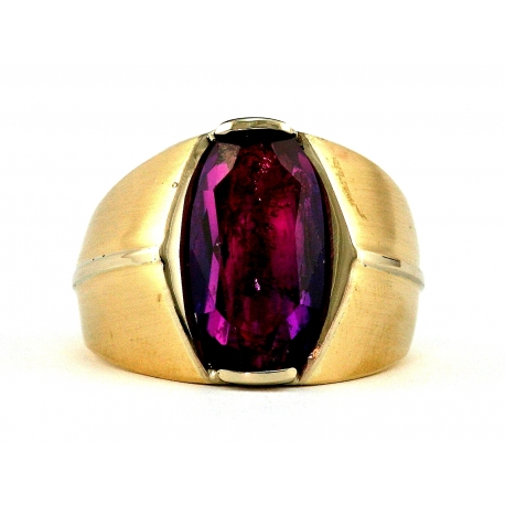 Amethyst Satin Ring