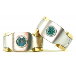 Blue Diamond Splice Rings