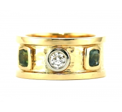 Etruscan Diamond Band Ring