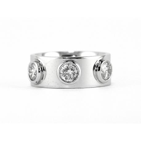 Diamond Contempo Solitaire Ring - Three Stones