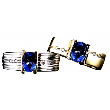 Sapphire Venture Band Rings