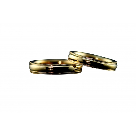 Milgrain Solid Gold Bands