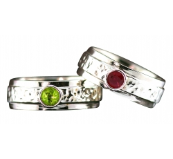 Solitaire Birthstone Band Rings