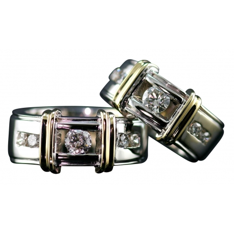 Channel Strap Band Rings
