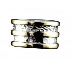 "Wide ""Cigar"" Band Ring Design"