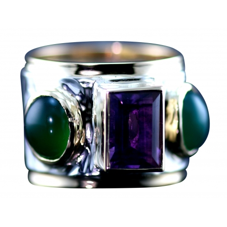 Baroque Wide Band Ring Design