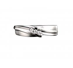 Diamond Swirl Band Ring