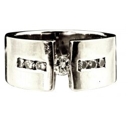 Diamond Tension Band Ring