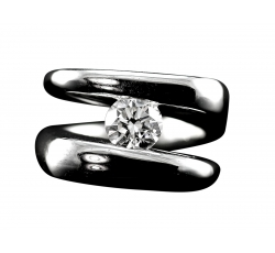 Diamond Solitaire Infinity Ring
