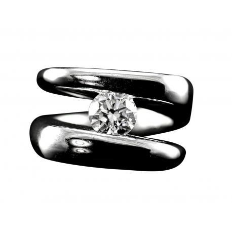 Diamond Solitaire Infinity Ring