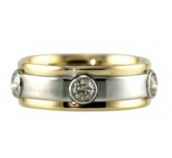5 Diamond Bezel Ring