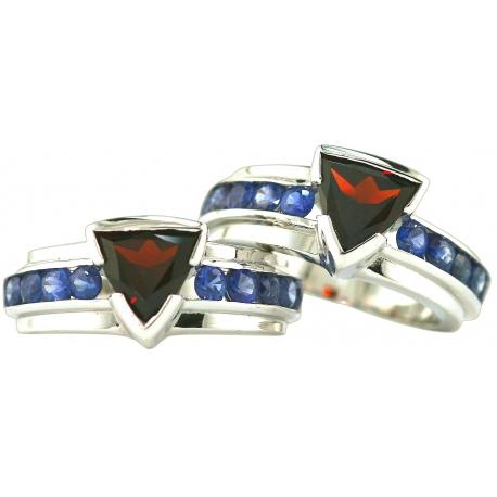 Trillion Gem Band Rings