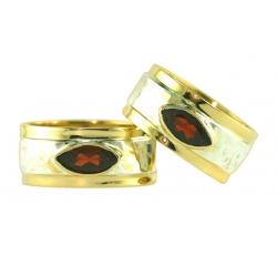 Sovereign Marquis Garnet Rings