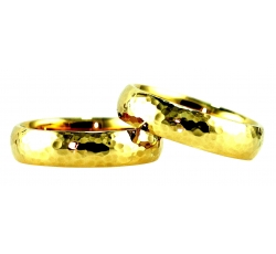 Hammer Texture Solid Band Rings