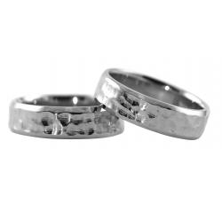 Organic Texture Band Rings