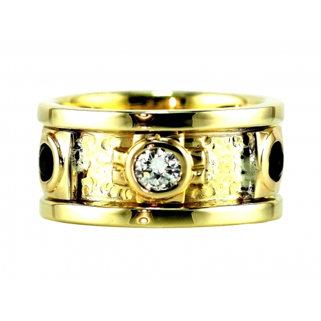 Baroque Diamond and Gemstone Ring