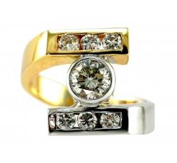 Solitaire Asymmetrical Ring Design