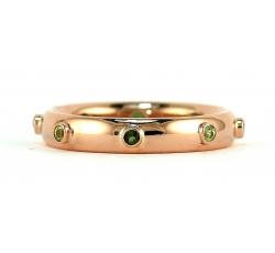 Rose Gold Birthstones Bezel Ring