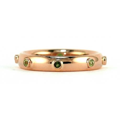 Rose Gold Birthstones Bezel Ring