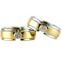 "1 Bezel Paramount Tension Design Ring"""