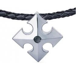 Shield Diamond Tag Necklace