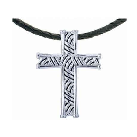 Thatch Cross Necklace