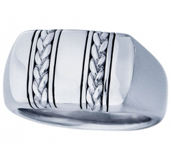 Geneva Signet Braid Ring