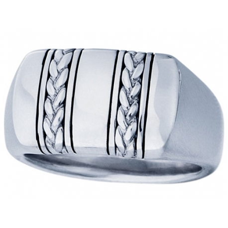 Geneva Signet Braid Ring
