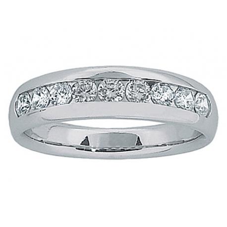 Granada Channel Set Band Ring
