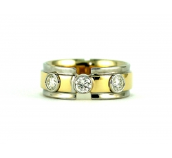 Paramount Triple Diamond Bezel Ring