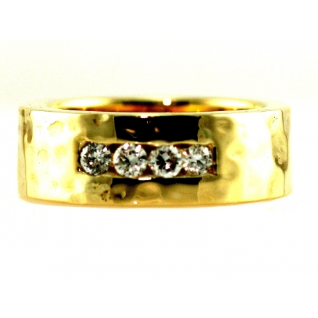 Diamond Soft Hammer Ring